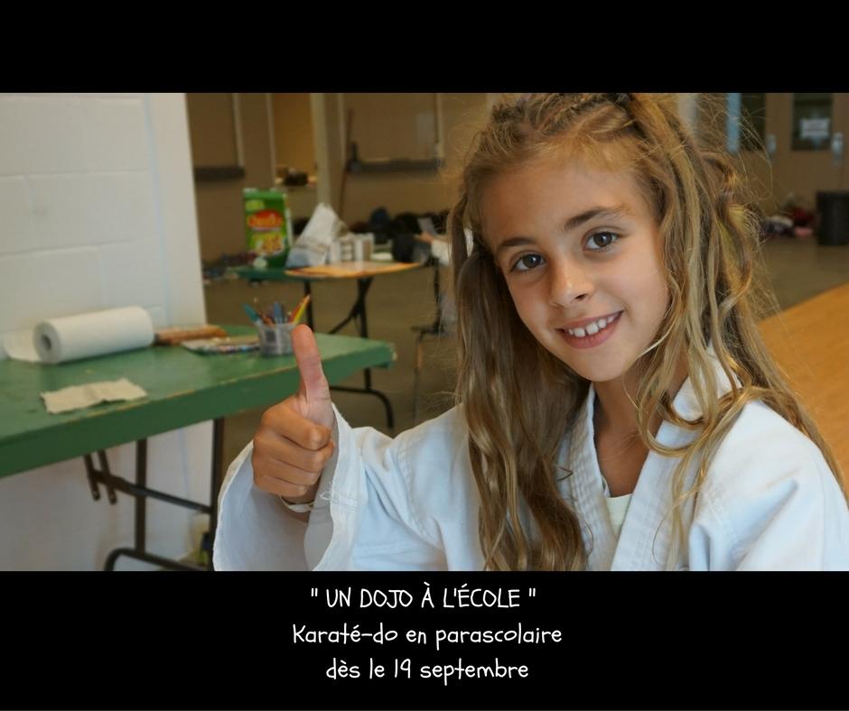 Un Dojo à l'école, karaté-do en parascolaire, écoles CSSMI