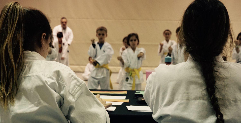 Passages de ceinture pour les karatékas du programme « Un Dojo à l'école », écoles primaires CSSMI, 1ère partie